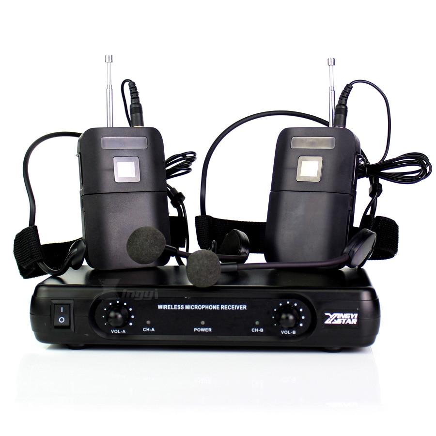 ME3 Headworn Wireless Microphone Headset Mic Head Mounted Karaoke Mike Dual Channel Cordless Receiver BLX1 Bodypack