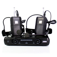 ME3 Headworn Wireless Microphone Headset Mic Head Mounted Karaoke Mike Dual Channel Cordless Receiver BLX1 Bodypack Transmitter
