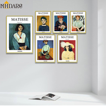 Matisse Portrait Fashion Design Decorative Art Posters and Prints Wall Pictures for Living Room Hallway Modern Home Decor Cuadro