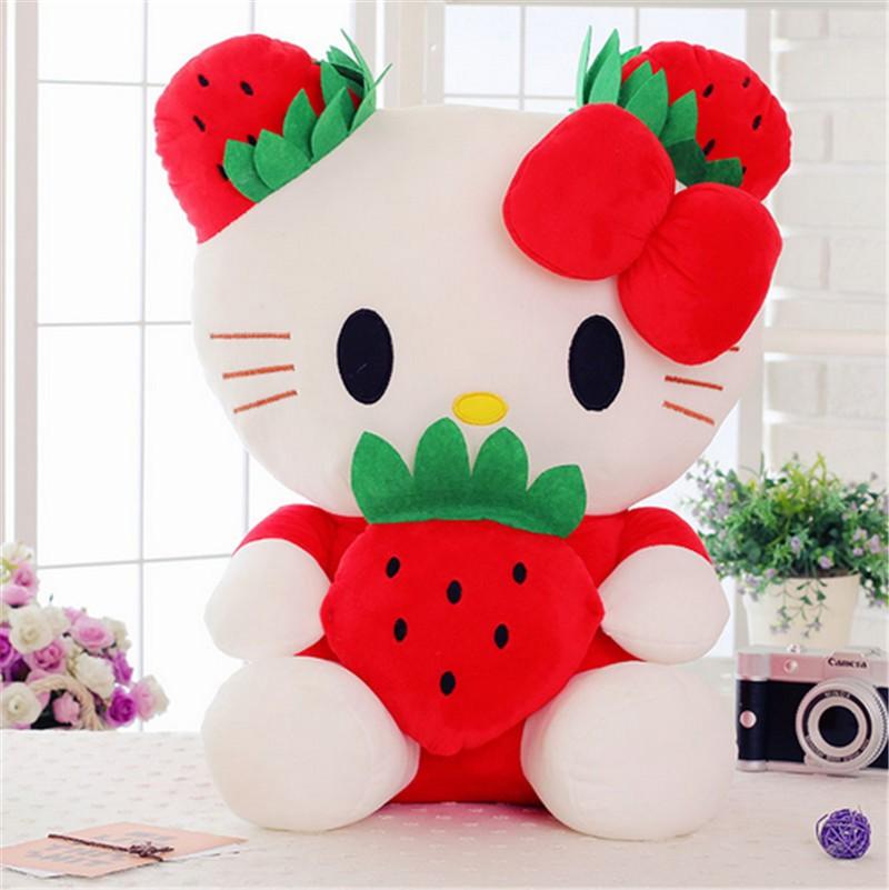 fancytrader cartoon lovely stuffed plush large giant hello kitty kt cat plush doll toys 65cm Christmas birthday gift  2