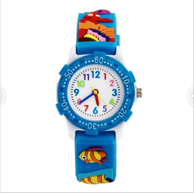 Children watch red fish Waterproof Kid Watches Brand Quartz Wrist Watch Baby For Girls Boys Fashion Casual Reloj все цены