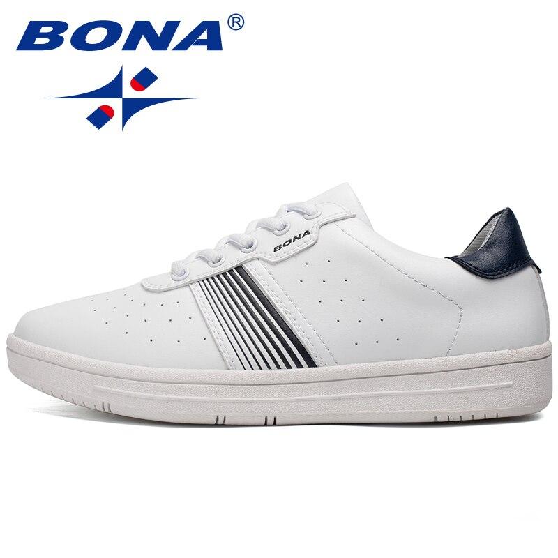 BONA Nouveau Style Populaire Hommes Planche À Roulettes Chaussures Lacent Sport Chaussures de Marche En Plein Air Jogging Sneakers Confortable Athletic Chaussures