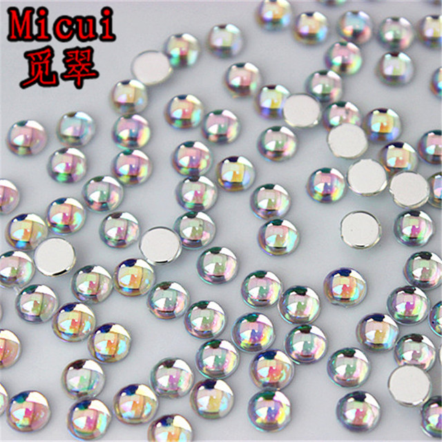 3379444963 Aliexpress.com : Buy Micui 200PCS 4mm AB Clear Round Acrylic Rhinestones  Crystal Flatback Nail Art Stones For Manicure Clothing Decorations MC78A  from ...