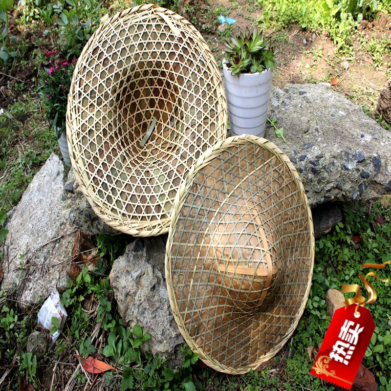XXXG Woven bamboo hat bamboo hats   large rain hat     large fishing cap  visor Handmade Bamboo Leaves Woven Hat Cap Costume Con-in Bottles 2734704727b
