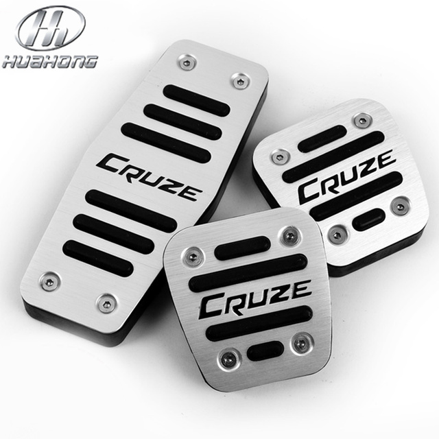 For Chevrolet Cruze pedal cover Aluminum alloy accelerator pedal plate interior part Foot pedal treadle car styling accessory