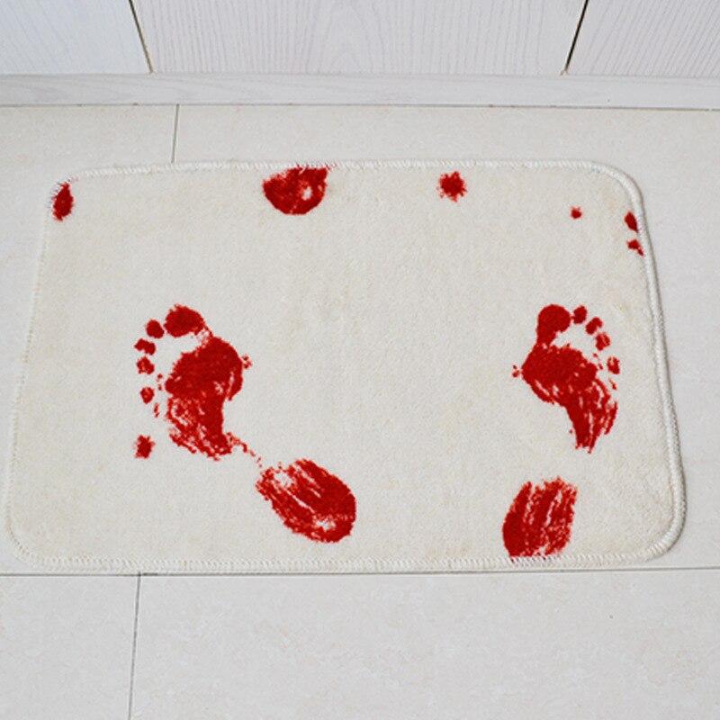40 cm x 60 cm badmat bloed footprint microfiber Latex onderkant ...