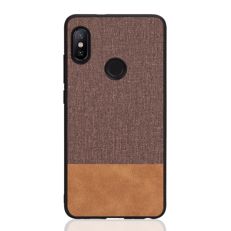 PHOPEER Silicone Case for XiaoMi Redmi Note 5 case cover Note5 Global Note 5 Pro Soft shockproof business fabric back cover in Fitted Cases from Cellphones Telecommunications