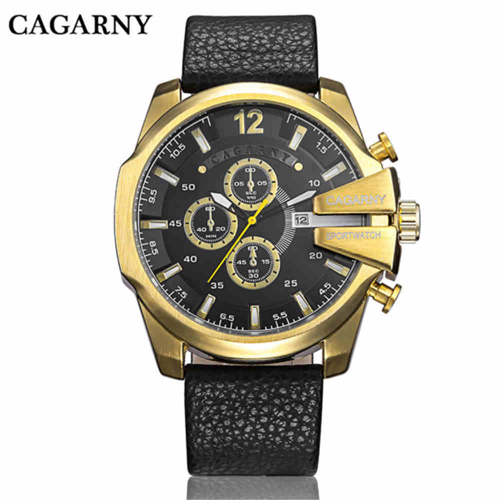 CAGARNY Watches Men s Luxury Brand Fashionable Large Dial Sport Watch with Calendar 0150