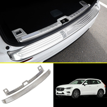 For Volvo XC60 2018 Stainless Inner & Outer Rear Bumper Guard Plates Cover Decoration Sticker Car styling 2pcs