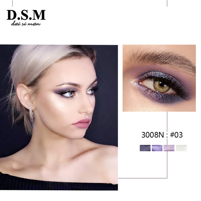 D.S.M Brand New Mineralize Eye Shadow 4 Colors Waterproof Eyeshadow Makeup Metallic Luminous Perfect Shades Eyeshadow Palettes 1