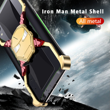 OATSBASF Iron Man Deluxe Metal Case for Huawei MATE 20 Pro Cover Safety Shockproof Personality Bumper Housing