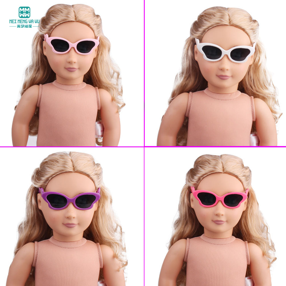 1pcs mini doll <font><b>glasses</b></font> for <font><b>BJD</b></font> dolls and 43cm new born doll accessories 18 Inch American doll Butterfly shape <font><b>glasses</b></font> image