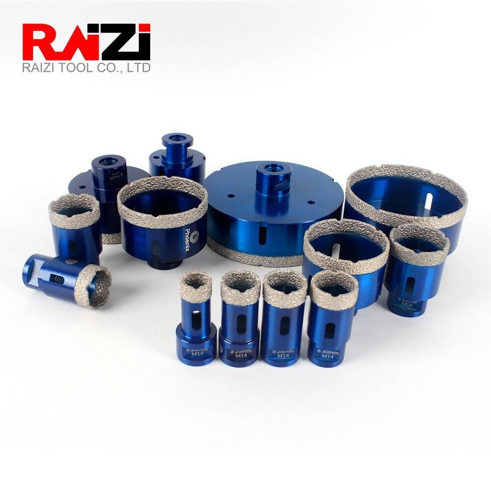 Raizi Dry Vacuum Brazed Diamond Core Hole Saw Drilling Bits For Porcelain Tile,Ceramic,Granite,Marble stone,Concrete.