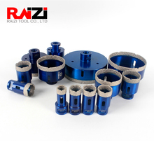 Raizi Dry Vacuum Brazed Diamond Core Hole Saw Drilling Bits For Porcelain Tile,Ceramic,Granite,Marble stone,Concrete. diatool diameter 40mm vacuum brazed diamond drilling core bits with 10mm diamond height hole saw granite marble ceramic