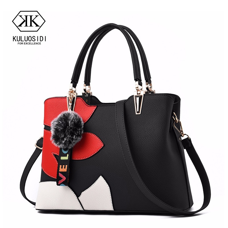 Fashion Patchwork Tote Bag Women Leather Handbag Messenger Bags Women Shoulder Crossbody Bag For Women Sac a Main Handbag Ladies guapabien fashion old classical fringed solid color handbag tote shoulder messenger crossbody bag for women