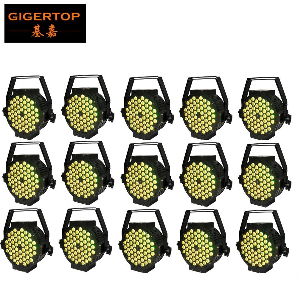 где купить NEW Professional Indoor 54pcs 3W RGB 3in1 Flat LED Par Can Lights Can 110V-240V Energy Saving Led Par Light TIPTOP 15xLOT по лучшей цене