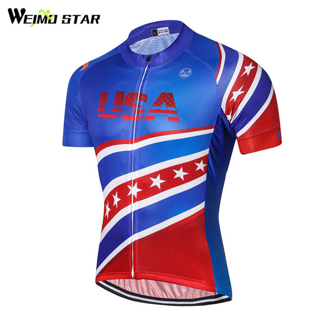 Weimostar Racing Sport Bike Team USA Cycling Jersey Ropa Ciclismo  Breathable Bicycle Cycling Clothing Short Road 6818200e7