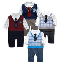 Clearance Sales Autumn Baby Rompers Gentleman Baby Boy Clothing Sets Long Sleeve Infant Jumpsuits Cotton Newborn Boy Clothes 3pcs baby clothes set gentleman baby boy rompers boys rompers cotton sets