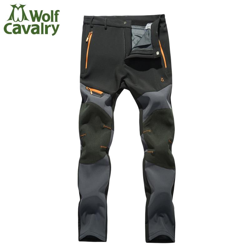 Prix pour Softshell Pantalons Hommes Respirant Thermique Étanche Pantalon Hommes Sport En Plein Air Camping Randonnée Pantalon Polaire Extérieure Pantalon HMB0081-5