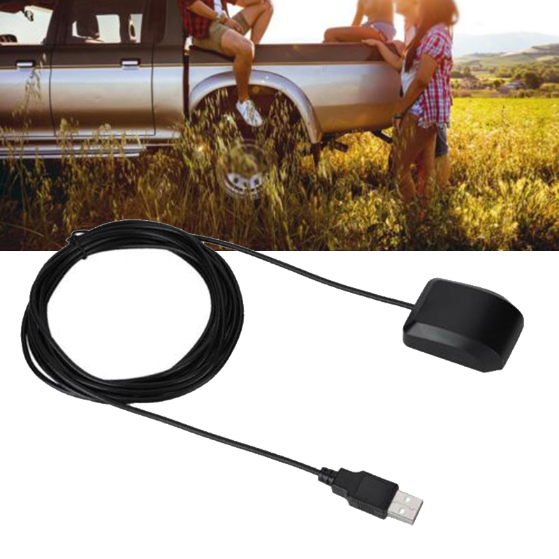 Durable 2 IN 1 USB GPS Receiver Antenna Dual Glonass Module For Car Laptop Phone