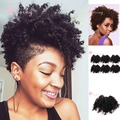 6inch Noble Golden Beauty Bloom Short Jerry Curl Synthetic Hair Weaves Dark Brown Full Head Hair Weaving Bundles for black women