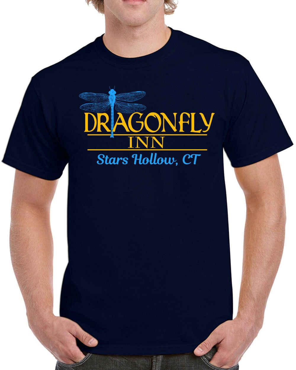 559 Dragonfly Inn mens T-Shirt gilmore tv show girls costume divertente lukes diner A Buon Mercato all'ingrosso tees, 100% Cotone Per L'uomo