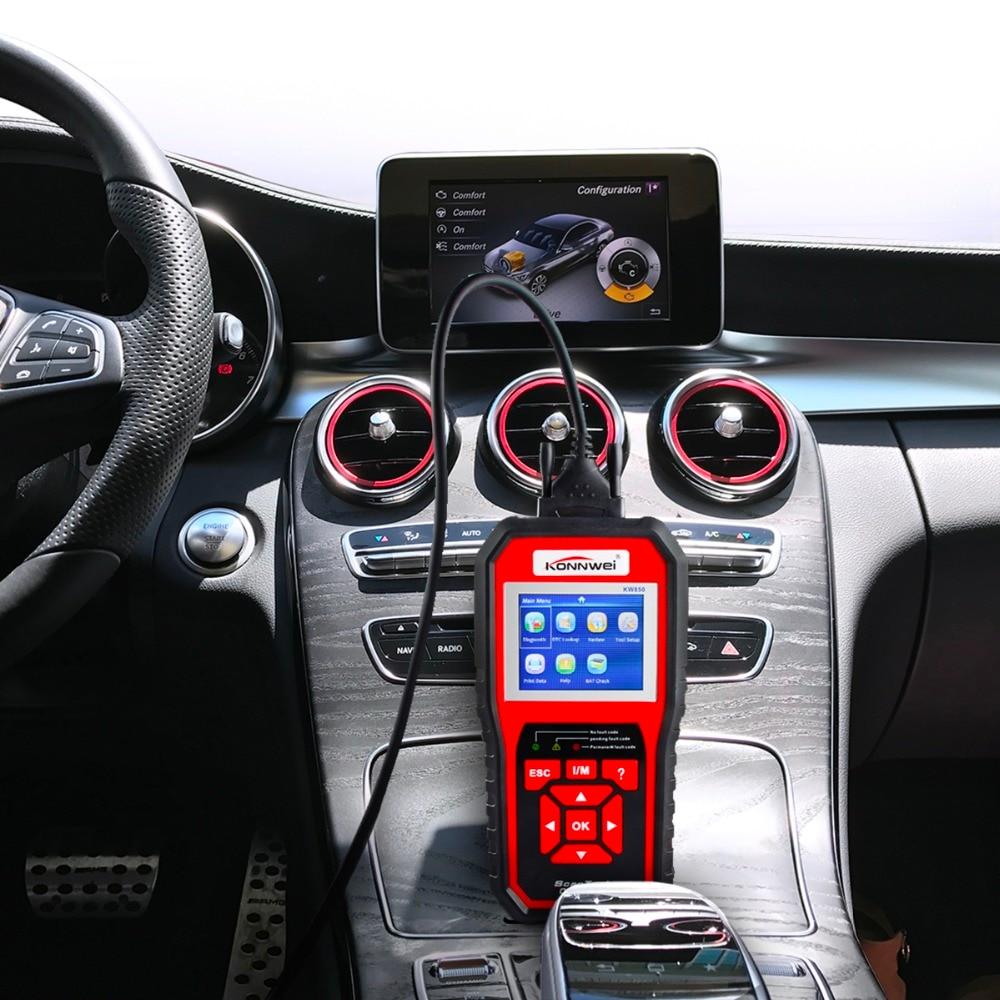 Escáner profesional OBD2 KW850 lector de código Motor de vehículo diagnóstico EOBD herramienta de escaneo para todos los coches de protocolo OBDII y CAN desde 1996 - 4