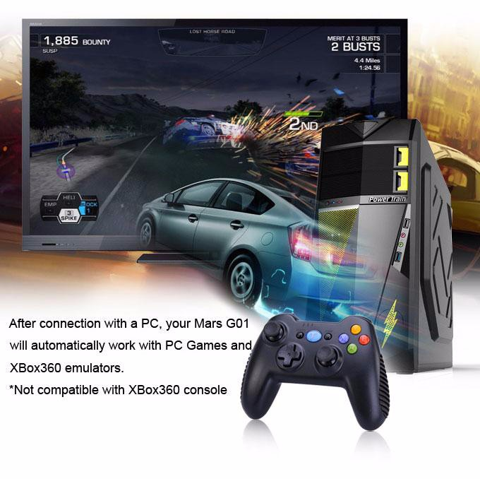 Tronsmart Mars G01 2.4GHz Wireless Gamepad for PlayStation 3 PS3 Game Controller Joystick for Android TV Box Windows (16)-1