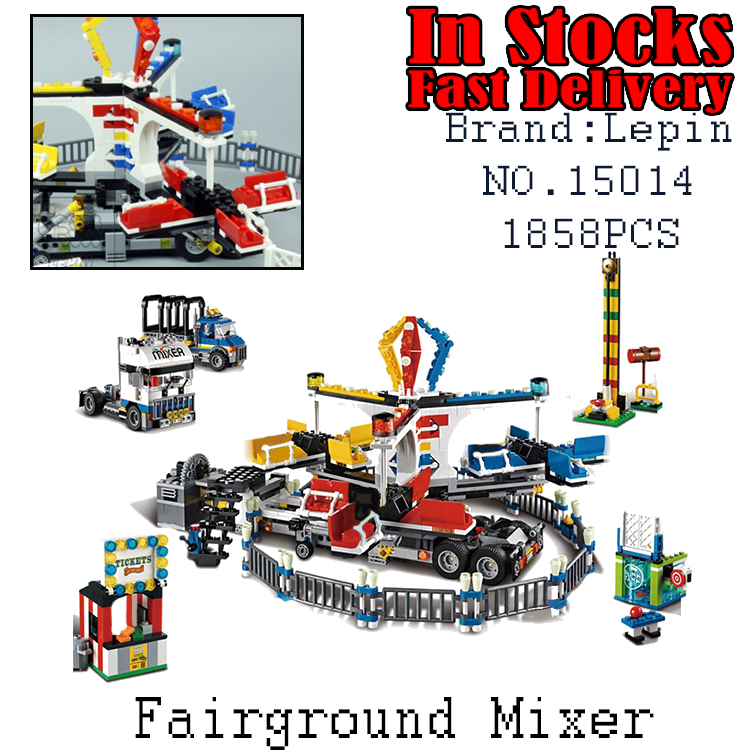 NEW LEPIN 15014 1858pcs Amusement park The carnival Model Building Blocks Set Compatible CREATOR 10244 Architecture toys gifts the state forest and park models humble park enlightenment bamboo cabin wood model kit architectural model material
