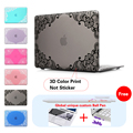 Matte Lace Floral Print Fashion Laptop Accessories For Girls Hard Case Cover Macbook Air 13 12 11 Pro 13 15 inch With Retina