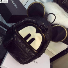 HANSOMFY   MIKKOSHOP Cute Backpack Fashion  Metal Rivet Spring Mickey Head Bag