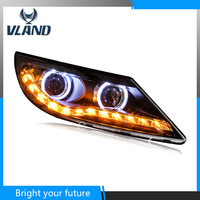 Headlights Front Lamp For KIA Sportage R LED Headlights 2011 2012 2013 2014 Angel Eyes Lights LED Projector