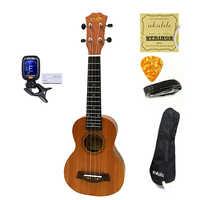 SevenAngel gran venta Ukelele concierto Soprano Tenor Ukelele Mini Hawaii guitarra acústica eléctrica Ukelele Cavaquinho recoger EQ