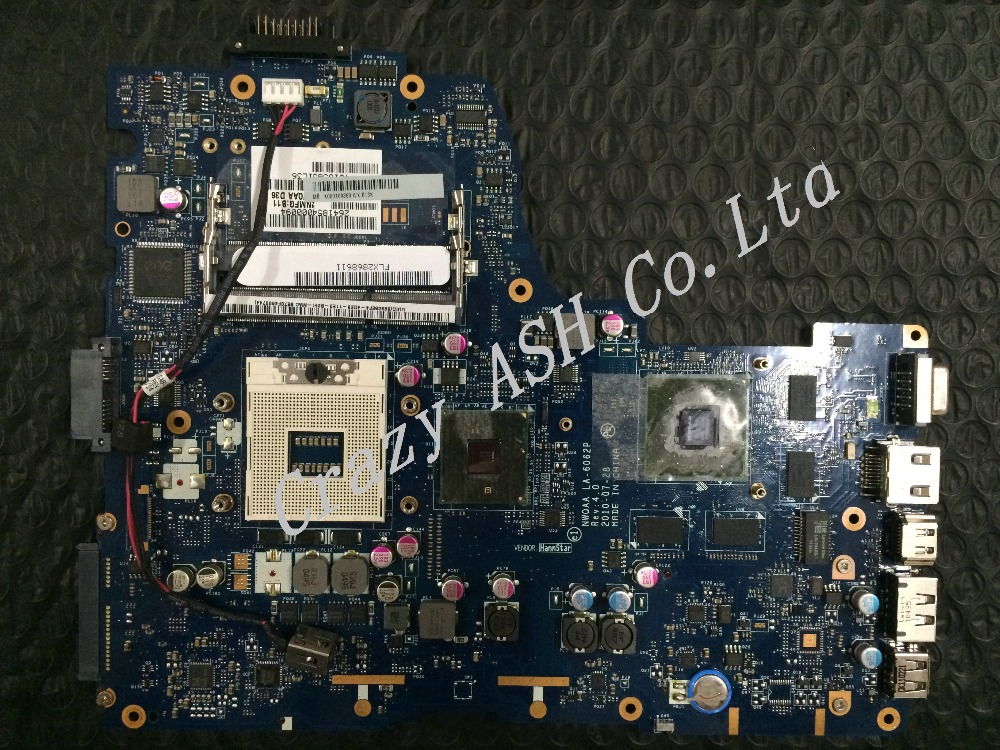 Free shipping for laptop MotherBoard Toshiba Satellite A660 A665 Intel HM55 mainrboard K000109860 NWQAA LA-6062P