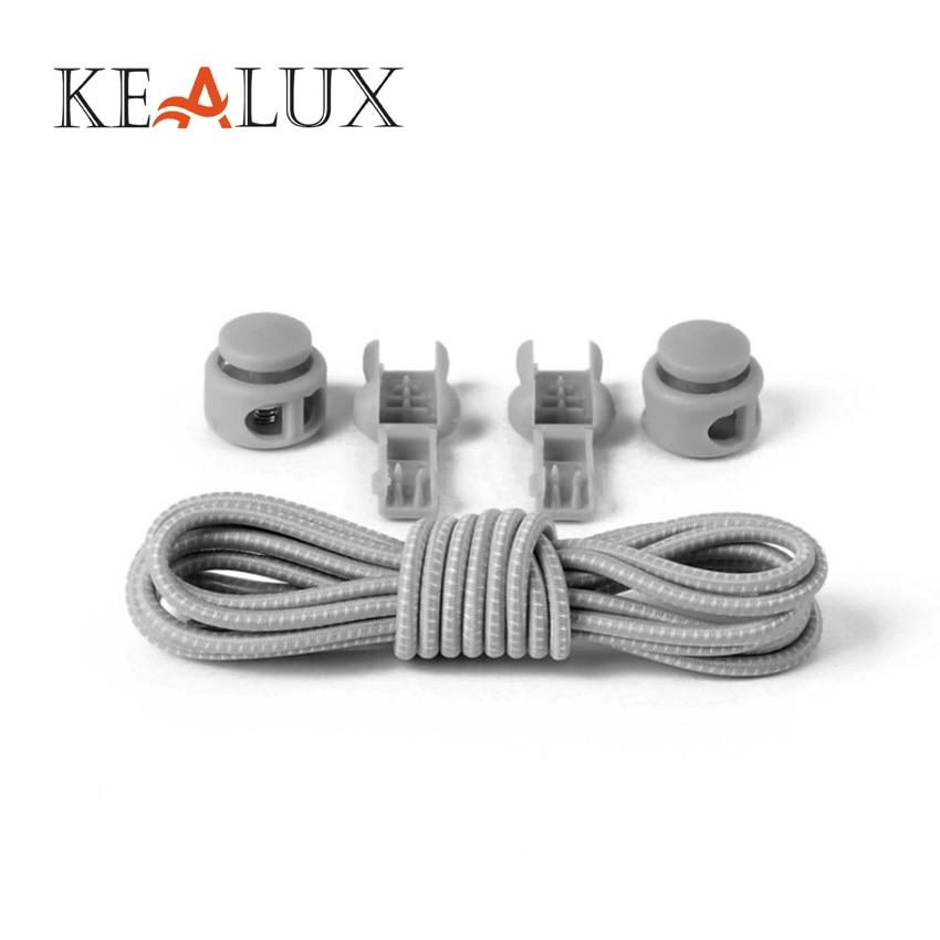 KEALUX Unisex Elasticity Solid Shoelaces No Tie Locking Silicone Convenient Shoelaces 10 Colors Fit Strap Shoelace Wholesale