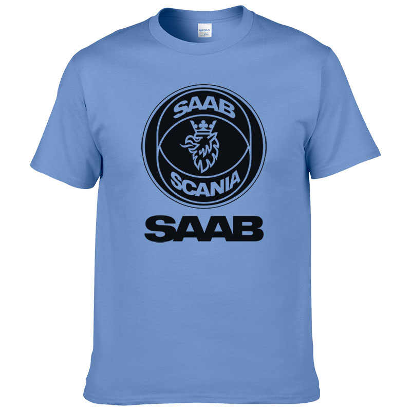 Новинка 2017 года для мужчин футболки модные Saab SCANIA Футболка хлопок O образным вырезом с короткими рукавами футболка принтом летняя футболка #190