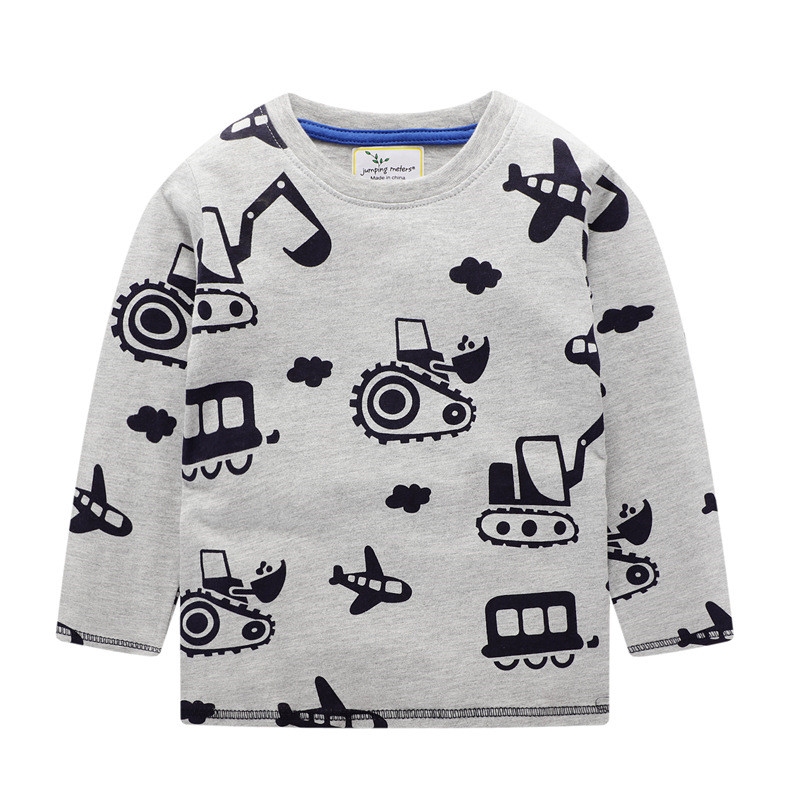 Jumping meters Top Brand Boys T shirts Baby Clothes Cotton Long Sleeve Tees Cartoon New Cute Boys Girls T shirts Autumn Clothing 1