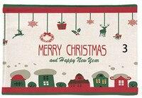Рождественская двухслойная утолщенная скатерть из хлопка и льна, салфетка для посуды, кухонное полотенце с рисунком в виде дерева, чай и ков...