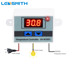LEDSMITH XH-W3001 LED Digital Temperature Controller DC 12 24 AC 220 Microcomputer Waterproof NTC Prober