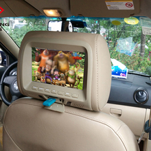 2016 brand new 7 inch MP5 LCD Car headrest monitor display screen high pillow Support USB and MP5 functions high quality