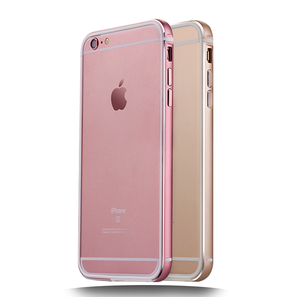 GAGALOR Phone Bumper for iPhone 5 5S 6 6S Plus BY MI Rose gold Metal ...