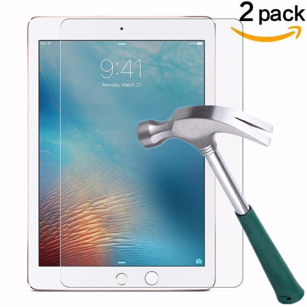 2pcs/lot Screen Protector For Apple iPad Air 2 Tempered Glass for iPad 2017 iPad 5 6 Pro 9.7