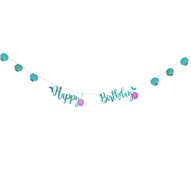Style 1 Banner Mermaid party plates 5c64f5cb314ca