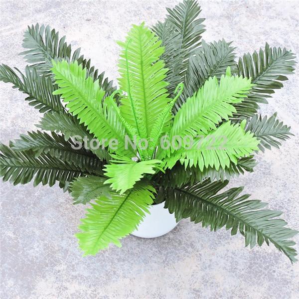4 set x 24 Leaf 47cm Artificial Boston Fern Palm Plant Tree Wedding Home Office Furniture Decor Green Fake Foliage Fl1666