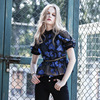 Blue Self Portrait Lace Blouses Summer Women O Neck Short Sleeve Embroidery Floral Lace Patchwork Mesh