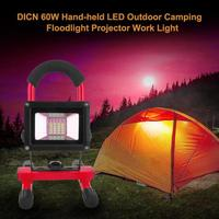 60W Rechargeable Working LED Floodlight Portable Spotlight Outdoor Camping Light Handheld LED Camping Floodlight Projector