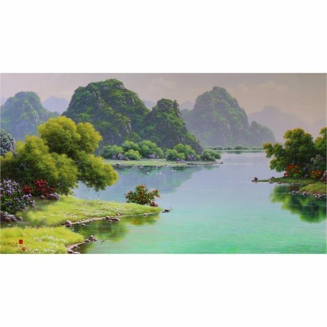 Fantastisch Natur Landschaft Realistische ölgemälde Originalvorlage Handgemachte Flache  Leinwand ölgemälde Wohnkultur Hochwertigen Wandmalerei