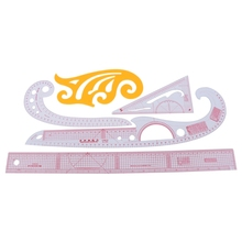 5pcs Pro Sewing French Curve Ruler Measure Dressmaking Tailor Craft Leathercraft Tool Sets Hand Item