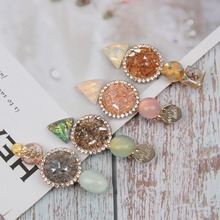 AHB Hair Accessories Pearl Rhinestones Clips for Women Colorful Hairgrips Korean Hairpin Girls Fashion