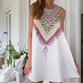 3D de Impresión de La Vendimia Delgada Vestido de Verano 2016 Vestido Bohemio de la Playa Vestidos de Verano Las Mujeres Vestidos Dashiki Hippie de Boho Vestidos Tallas grandes